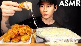 ASMR FRIED CHICKEN WINGS & MOZZARELLA CHEESE MUKBANG (No Talking) EATING SOUNDS | Zach Choi ASMR